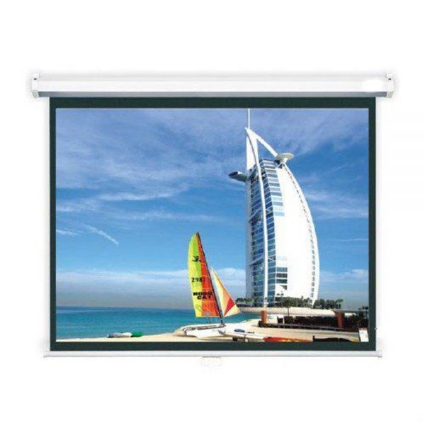 "JUAL BRITE Manual Wall Screen 84"" ukuran 213x213 cm Murah"