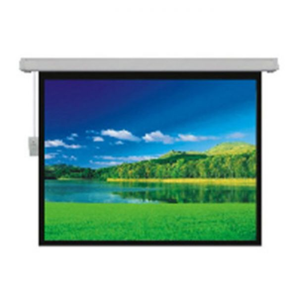 "JUAL BRITE Motorized Screen 96"" ukuran 244x244 cm Murah"